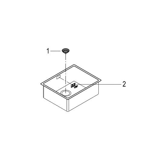 Мойка кухонная Grohe K700 31574SD0 (540х440 мм)