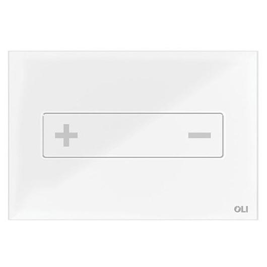 Смывная клавиша OLI OCEANIA белая 054554 (механическая, стекло)