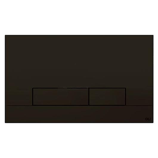 Смывная клавиша OLI NARROW черная Soft-touch 152942 (механическая)
