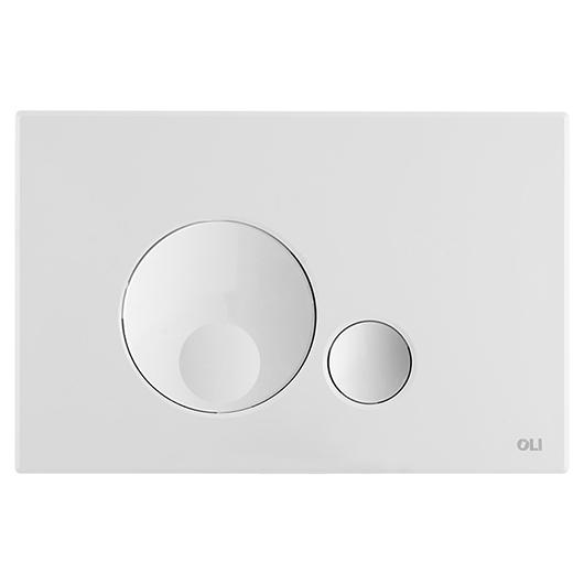 Смывная клавиша OLI GLOBE белая 152949 (механическая)