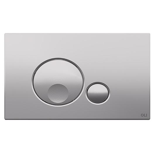 Смывная клавиша OLI GLOBE хром матовый 152951 (механическая)