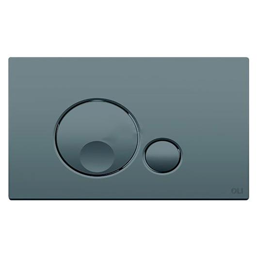 Смывная клавиша OLI GLOBE серая Soft-touch 152953 (механическая)