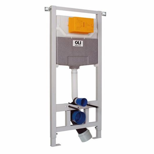 Инсталляция для подвесного унитаза OLI120 Eco Sanitarblock 879235 (пневматика)