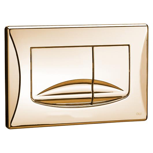 Смывная клавиша OLI RIVER DUAL золото 638508 (механическая)