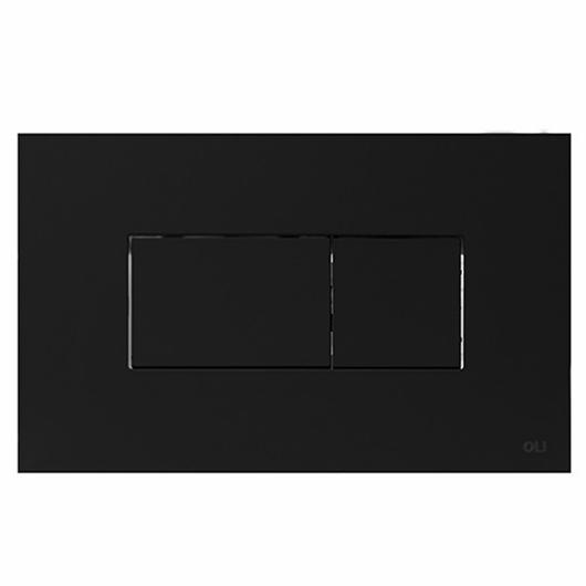 Смывная клавиша OLI KARISMA черная Soft-touch 641015 (пневматическая)