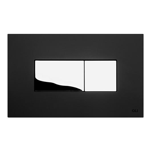 Смывная клавиша OLI KARISMA черная Soft-touch/хром глянцевый 641017 (пневматическая)