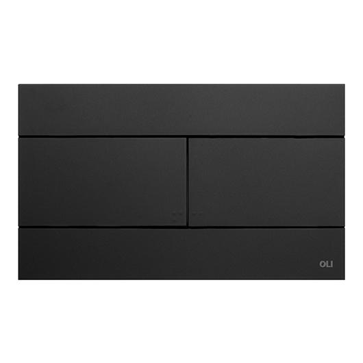 Смывная клавиша OLI SLIM черная Soft-touch 659055 (механическая)
