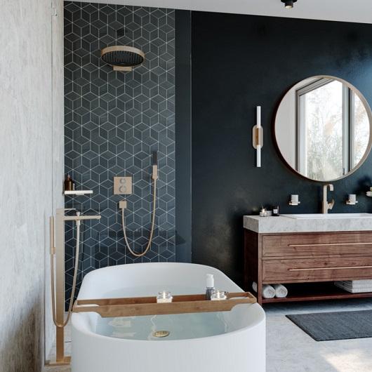 Смеситель для ванны Hansgrohe Metropol 32532140 (шлифованная бронза)