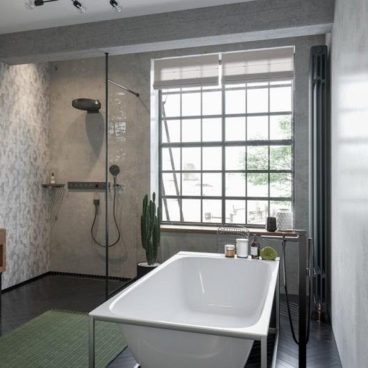 Смеситель для ванны Hansgrohe Metropol 32532340 (шлифованный черный хром)