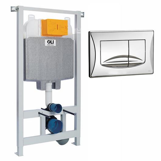 Инсталляция для подвесного унитаза OLI74 Plus Sanitarblock с клавишей RIVER DUAL 09262OLM