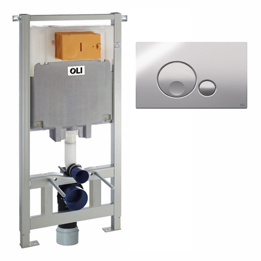Инсталляция для подвесного унитаза OLI80 Sanitarblock с клавишей GLOBE 300572mGB00
