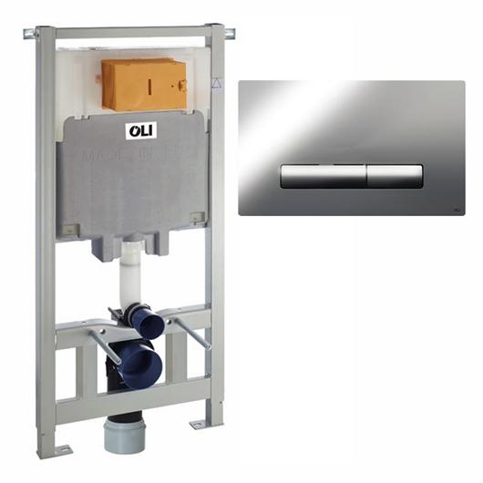 Инсталляция для подвесного унитаза OLI80 Sanitarblock с клавишей GLAM 300572mGM00