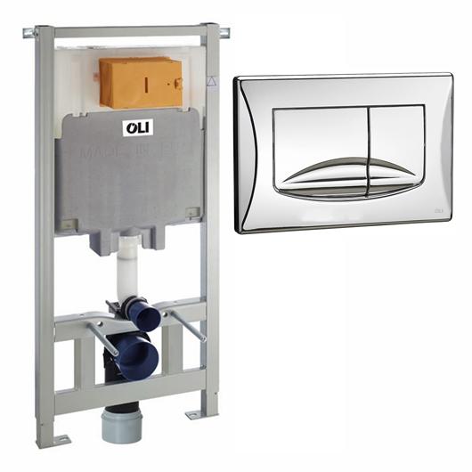 Инсталляция для подвесного унитаза OLI80 Sanitarblock с клавишей RIVER 300572mRI00