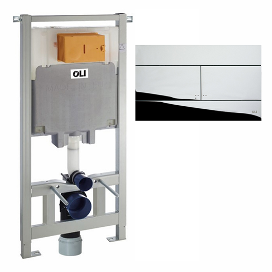 Инсталляция для подвесного унитаза OLI80 Sanitarblock с клавишей SLIM 300572mSl00