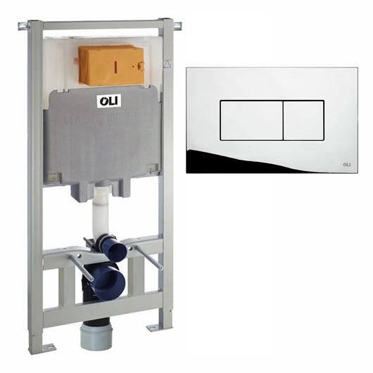 Инсталляция для подвесного унитаза OLI80 Sanitarblock с клавишей KARISMA 300573pKA00