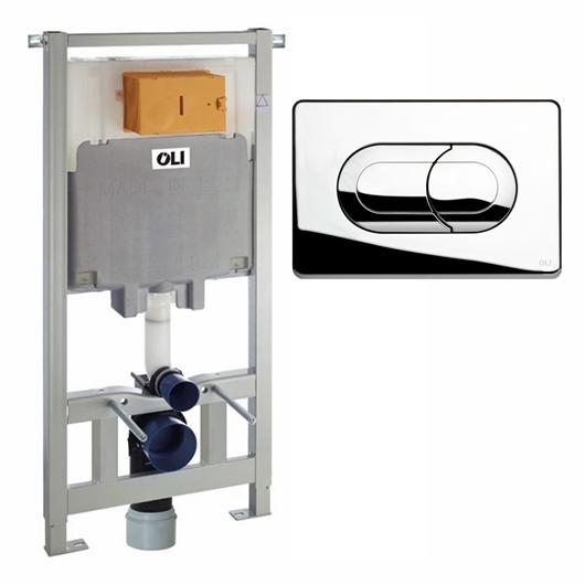 Инсталляция для подвесного унитаза OLI80 Sanitarblock с клавишей SALINA 300573pSA00