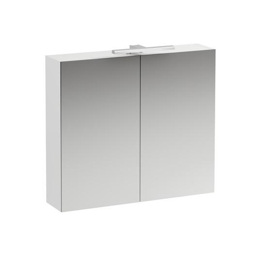 Зеркальный шкаф Laufen Base 0280.2 (4.0280.2.110.261.1, 800х700 мм, белый глянцевый)