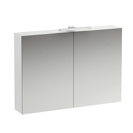 Зеркальный шкаф Laufen Base 0285.2 (4.0285.2.110.261.1, 1000х700 мм, белый глянцевый)