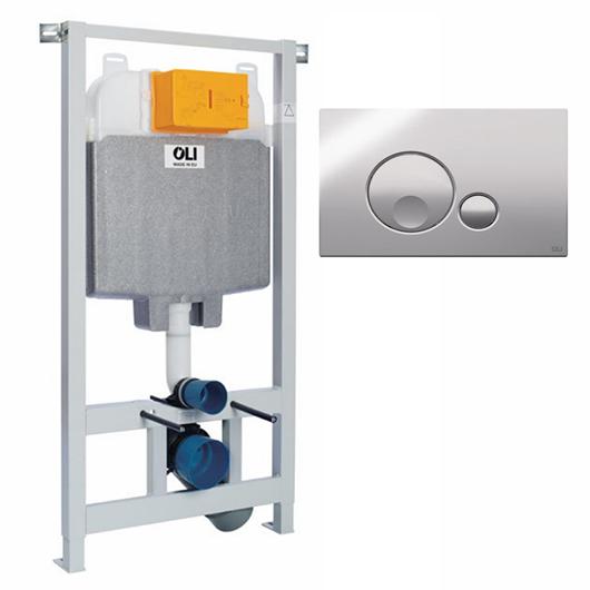 Инсталляция для подвесного унитаза OLI74 Plus Sanitarblock с клавишей GLOBE 601801mGB00