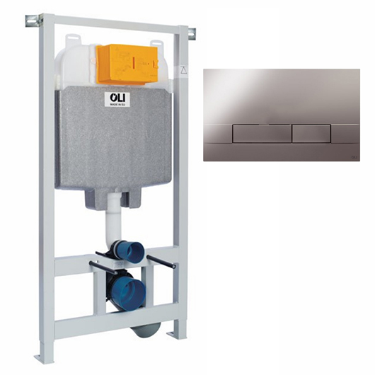 Инсталляция для подвесного унитаза OLI74 Plus Sanitarblock с клавишей NARROW 601801mNa00