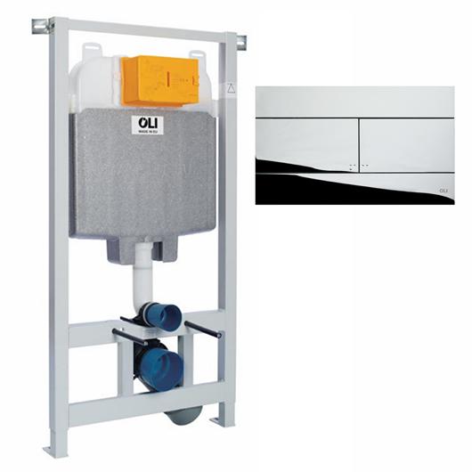 Инсталляция для подвесного унитаза OLI74 Plus Sanitarblock с клавишей SLIM 601801mSl00