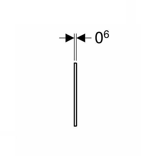 Декоративная рамка для клавиш Geberit Sigma60 115.641.GH.1 (Полированный хром)