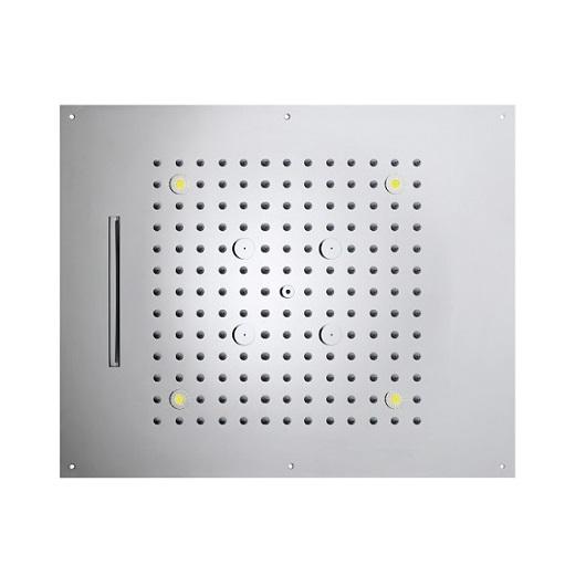 Верхний душ Bossini Dream-3 Cromotherapy H38935 CR (570х470 мм)