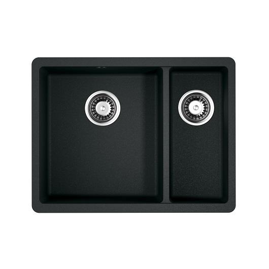 Мойка кухонная Omoikiri Kata 55-2-U BL 4993389 (черный, 550х420 мм)