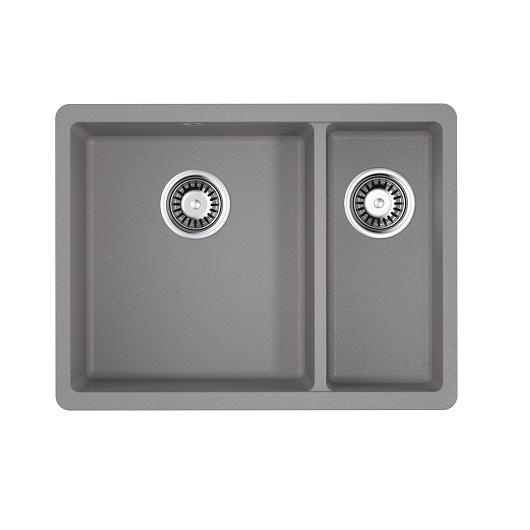 Мойка кухонная Omoikiri Kata 55-2-U GR 4993390 (ленинградский серый, 550х420 мм)