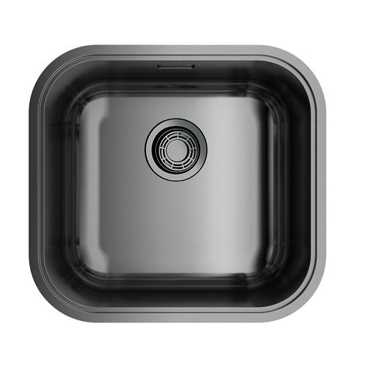 Мойка кухонная Omoikiri Omi 44-U/I GM 4993191 (вороненая сталь, 445х415 мм)