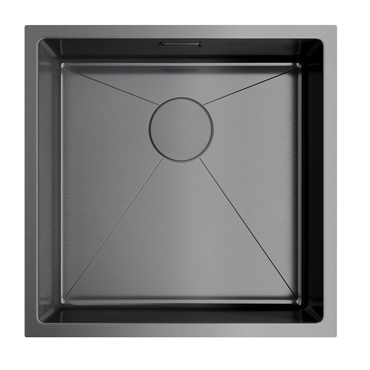 Мойка кухонная Omoikiri Taki 44-U/IF GM 4973521 (вороненая сталь, 440х440 мм)