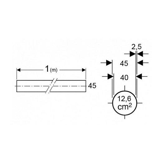 Труба Geberit 152.170.16.1  (1 м, d 45 мм)