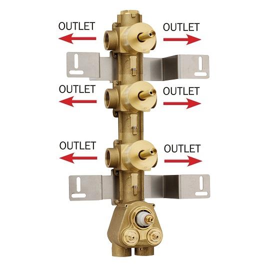 Скрытая часть термостата на 6 выходов Bossini Z030273000