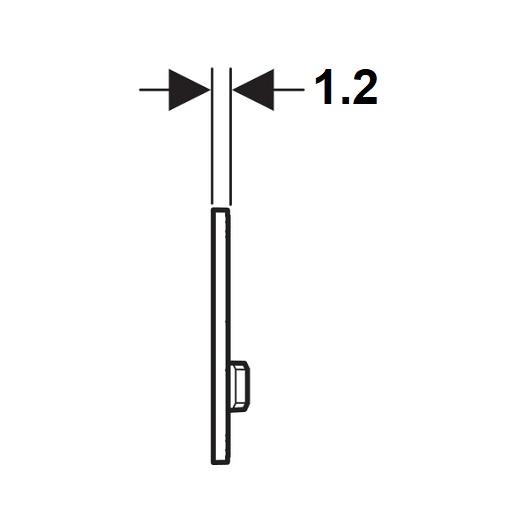 Смывная клавиша Geberit Sigma50 115.788.GH.2 (полированный хром)