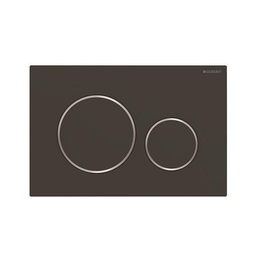 Смывная клавиша Geberit Sigma20 115.882.14.1 (матовый черный, с легкоочищаемой поверхностью)