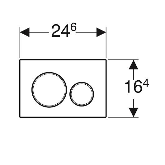 Смывная клавиша Geberit Sigma20 115.882.SN.1 (нержавеющая сталь, с легкоочищаемой поверхностью)