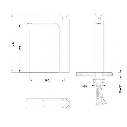 Смеситель для раковины Timo Torne 4311/00-16F (белый/хром)