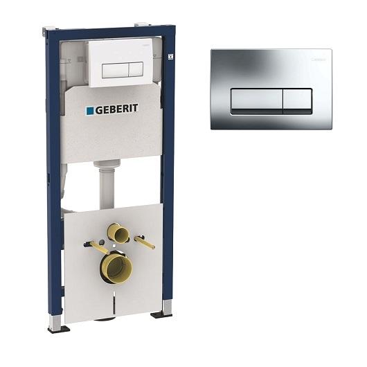 Инсталляция для подвесного унитаза Geberit Duofix UP100 458.128.21.1 (комплект 4 в 1)