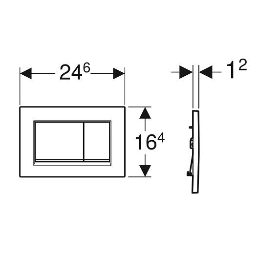 Смывная клавиша Geberit Sigma30 115.883.JT.1 (матовый белый, с легкоочищаемой поверхностью)