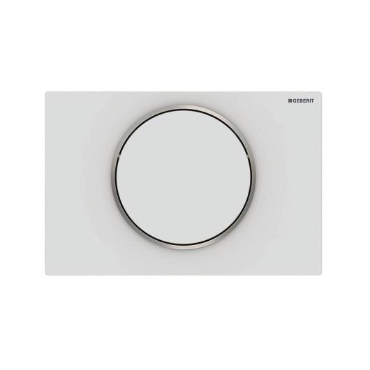 Смывная клавиша Geberit Sigma10 115.758.JT.5 (матовый белый, с легкоочищаемой поверхностью)