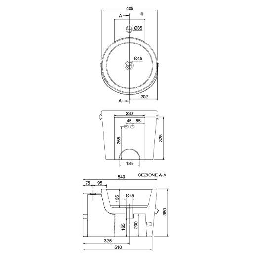 Раковина Scarabeo Bucket 40R 8804/Z Pixels (405х540 мм)