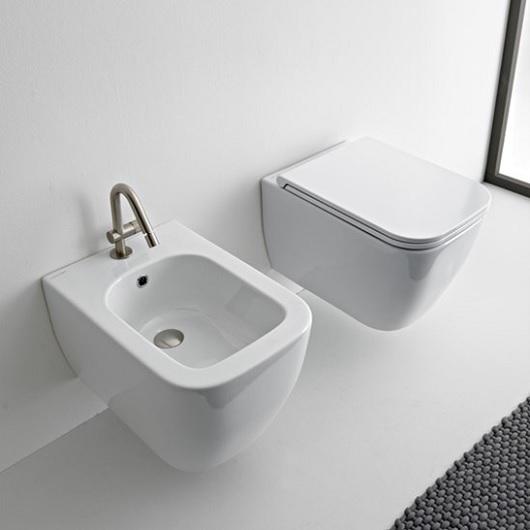 Чаша подвесного унитаза Scarabeo Teorema 2.0 Clean Flush 5126/CL безободковая