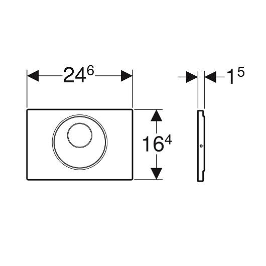 Смывная клавиша Geberit Sigma10 115.891.SN.5 (нерж. сталь, ИК датчик, питание от батарей)