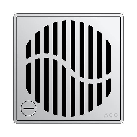 Декоративная решетка Aco ShowerPoint Волна 5141.21.28 (с замком)