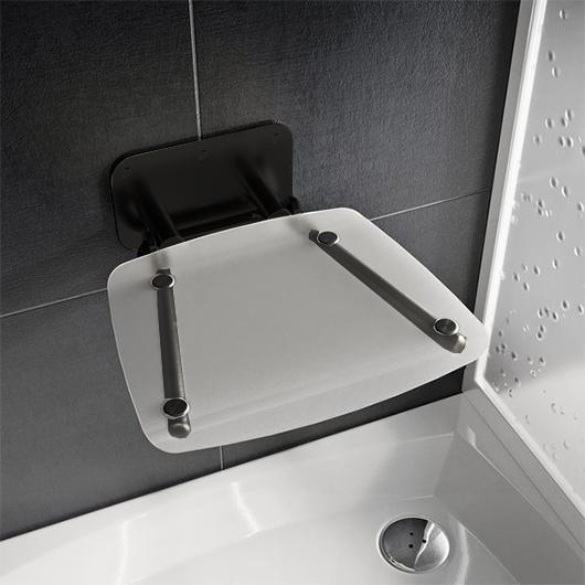Сиденье для душа Ravak Ovo-B II Clear/Black B8F0000059