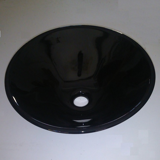 Раковина накладная Scarabeo Thin-Line Cono 8010/35 черная (⌀ 420 мм)