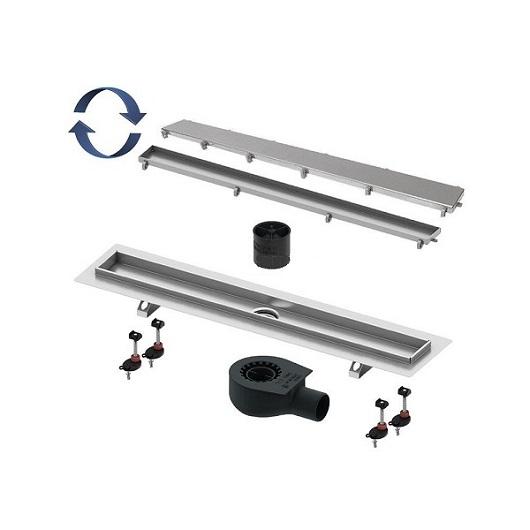 Дренажный канал с «сухим» затвором TECE TECElinus 15103099 с основой для плитки «tile»/панелью «steel» (900 мм)