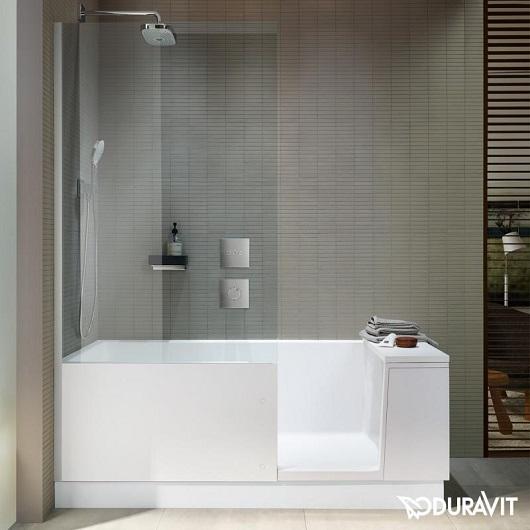 Ванна со шторкой и дверцей Duravit Shower+Bath 170х75 700403000000000