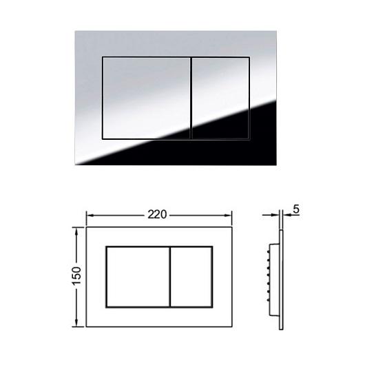 Инсталляция для подвесного унитаза TECE TECEbase 9400012 (9400412) с панелью смыва TECEnow, хром глянцевый (4 в 1)