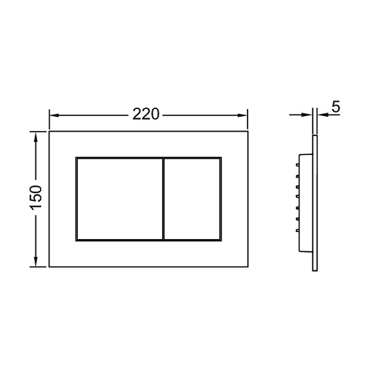 Инсталляция для подвесного унитаза TECE TECEbase K400407 с панелью смыва TECEnow, черный матовый (4 в 1)
